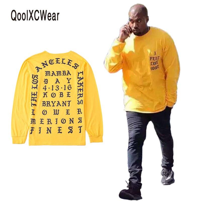 Camiseta conmemorativa de manga larga QoolXCWear 2017 Kanye West I Feel Like Kobe