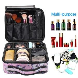 Image 3 - Deanfun trousse de voyage multifonctionnelle licorne étui de maquillage, trousse à cosmétiques, organiseur de voyage avec diviseurs ajustables, 16001