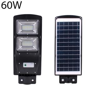 Image 3 - High Quality IP67 60W LED Solar Street Light Outdoor Waterproof Light Control Sensing Smart Led Light Garden Lamp
