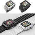 Alta qualidade da liga de alumínio metal cover case de proteção com alça de metal de alumínio faixa de relógio para apple watch iwatch 38mm 42mm