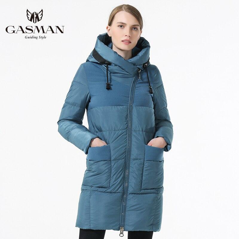 Gasman 2019 겨울 여성 브랜드 다운 재킷 패션 겨울 여성 코트 후드 두꺼운 파카 windproof 자켓 여성을위한-에서파카부터 여성 의류 의  그룹 1