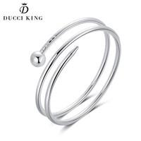 Bracelets Bangles For Men Women Fashion Simple Silver Women Bangles Geometric Awl Men Bracelet For Unisex Trendy Bangle Jewelry