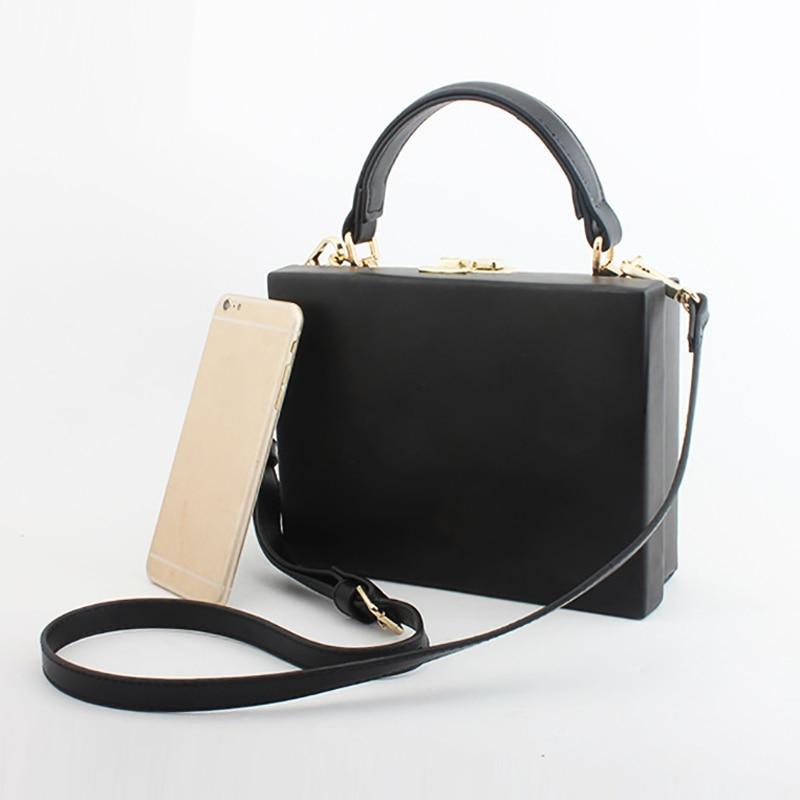 Fashion PU Leather Box Bag Vintage Handbag Crossbody Shoulder Bag OL Evening Party Bags Flap For Women 2019