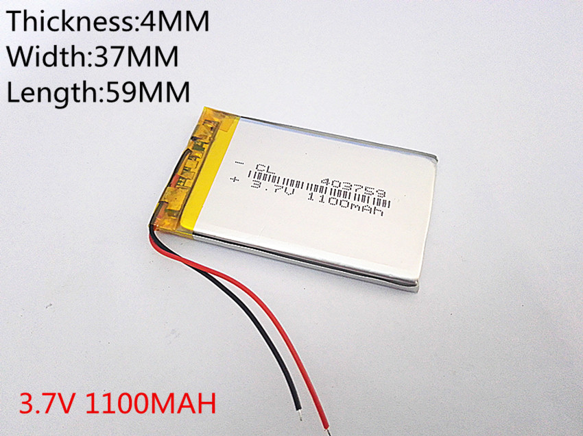 best battery brand 3.7V 403759 1100mAh Lithium Polymer Li-Po Rechargeable DIY Battery For Mp3 MP4 MP5 GPS mobile electronic 3 7v lithium polymer lithium li polymer battery 584245 1100mah navigation gps mp4 mp5