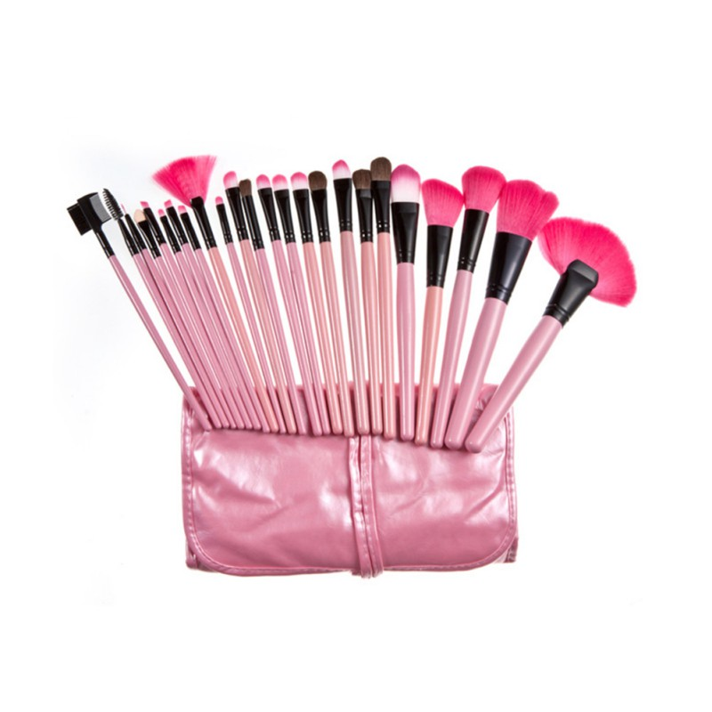 Top Quality!!! Professional 24 pcs Makeup Brush Set tools Make-up Toiletry Kit Wool Brand Make Up Brush Set Case Cosmetic brush hot sale professional 24 pcs makeup brush set tools make up toiletry kit wool brand make up brush set cosmetic brush case