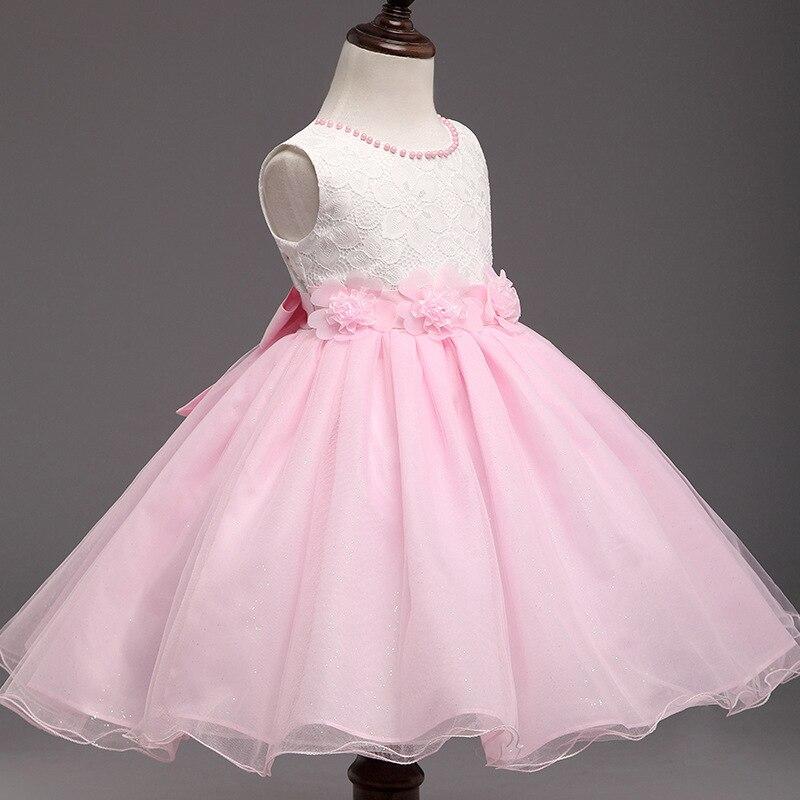 Encantador Vestido Rosa Y Blanco Del Partido Festooning - Ideas de ...