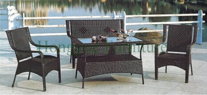 Outdoor Sofa Hot Sale PE Rattan Sofa and Iron Frame Garden Furniture
