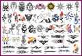 53Pcs Big Size Totem Patterns Tattoo Stencils For Temporary Body Painting Water-proof Animals Tattoo Stickers Can Keep 7 Days