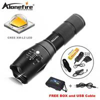 CREE XML T6 LED 2000Lm Cree Adjustable Led Torches Zoomable LED Flashlight Lamp 1x18650 Battery Car