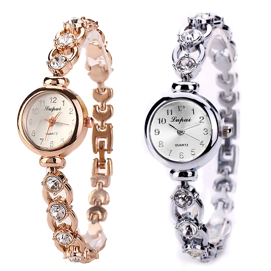 Lvpai sommer stil kvinder armbånd guld ure kvinder armbåndsur damer ur kvindelige armbåndsur rustfrit guld ure