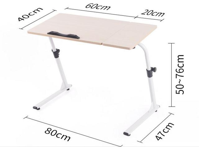 (60+20)*40cm Multipurpose Laptop Desk Adjustable Height Office Desks With  Mouse