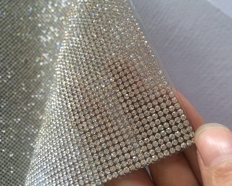 Libérez le bateau! SS8 Cristal Clair Strass Perles Garniture Diamant Maille Correctif ou auto-ADHÉSIF rouleau strass Applique Baguage pour Decorat