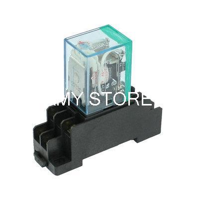 MY2NJ HH52P 12VDC 24VDC 24VAC 110VAC 220/240VAC Coil 5A General Purpose Power Relay 8 Pin DPDT + PYF08A Socket