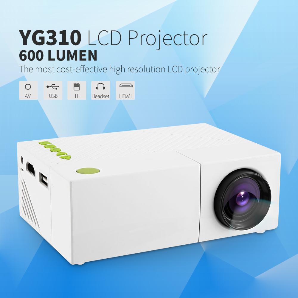 Prix pour YG310 Portable LCD Projecteur HD 400-600 LM 1080 P AV USB SD HDMI Vidéo LED Mini Projecteur Smart Home Cinéma Vidéo Projetor