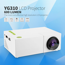 YG310 Proyector LCD Portátil HD 400-600 LM 1080 P AV USB SD de Vídeo HDMI Mini Proyector LED Inteligente de Vídeo de Cine En Casa Projetor