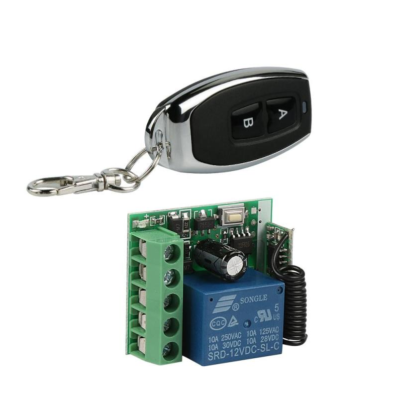 433Mhz Universal Wireless RF Remote Control Switch DC 12V 1CH relay Receiver Module Transmitter and 433 Mhz 2CH Remote Controls dc 12v 1ch 433 mhz universal wireless remote control switch rf relay receiver module and transmitter electronic lock control diy