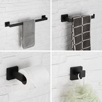 Bathroom Hardware Set Stainless Steel Towel Bath Set Wall Mount Bath Accessories Fixture Mounting Kits Towel Bar Ring Hanger