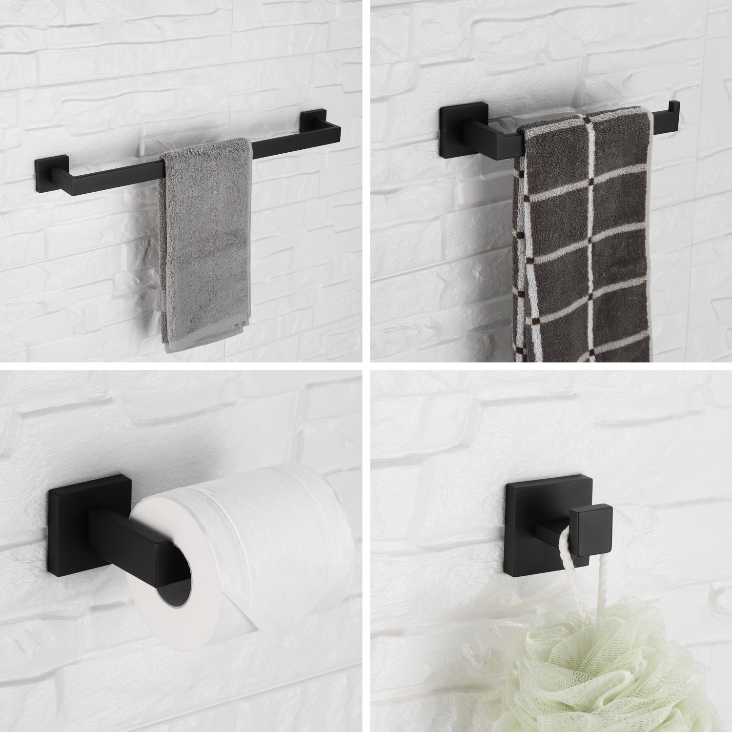 Bathroom Hardware Set Stainless Steel Towel Bath Set Wall Mount Bath Accessories Fixture Mounting Kits Towel Bar Ring Hanger bath towel set 2 pieces soft kiss bath towel set 2 pieces