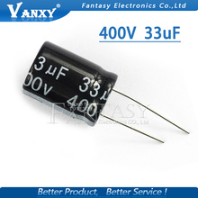 5PCS Higt quality 400V33UF 16*22mm 33UF 400V 16*22 Electrolytic capacitor