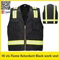 Retardante de llama de Trabajo ropa de trabajo ropa de seguridad chaleco reflectante con rayas de tela oxford