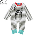 Baby Boy Rompers Jumpsuit Long Sleeve Stripe Halloween Newborn Clothes 2017 Brand Hair Funny Baby Romper For Infant Girl Costume