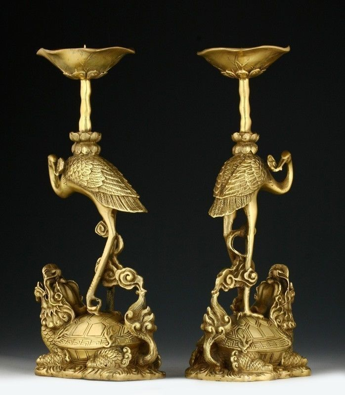 Native copper PAIR OF ORIENTAL CHINESE CARVED COPPER CANDLE STICK-CRANE STATUES bronze Decoration 100% real Tibetan Silver BrassNative copper PAIR OF ORIENTAL CHINESE CARVED COPPER CANDLE STICK-CRANE STATUES bronze Decoration 100% real Tibetan Silver Brass