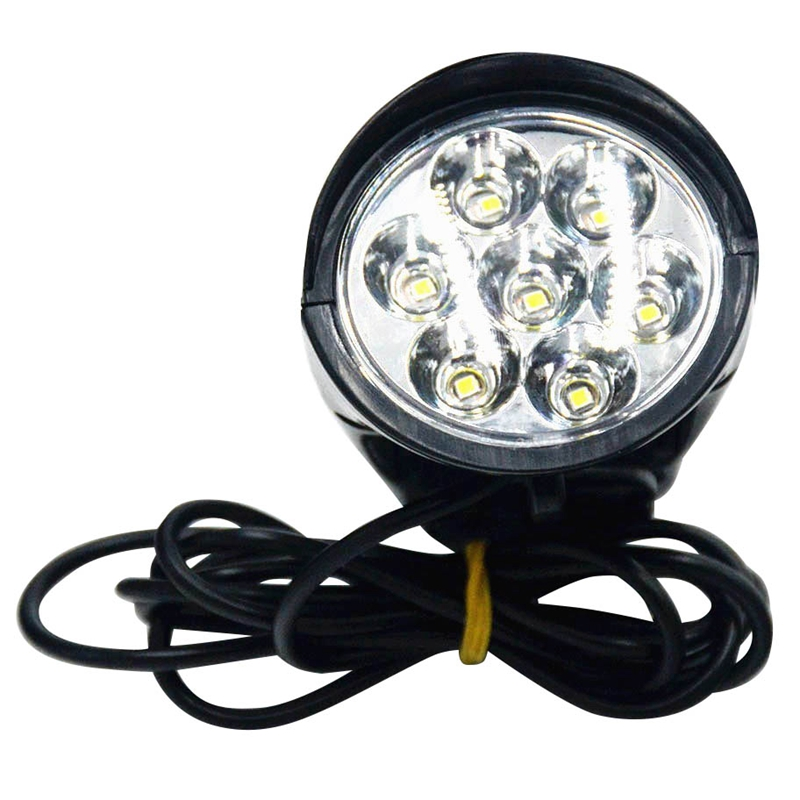 Electric Bike 7Led Light Waterproof Flashlight with Horn 36V48V Front Light Bike bicycle light bicicleta Tools Accessories in Bicycle Light from Sports Entertainment