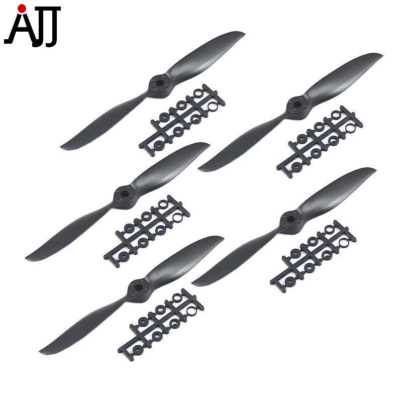 5PCS Rctimer 6x5 Sport Propeller 6050 Precision Props Blade w/ Motor Shaft Adaptation Black for RC Airplane DIY FPV Multirotor image