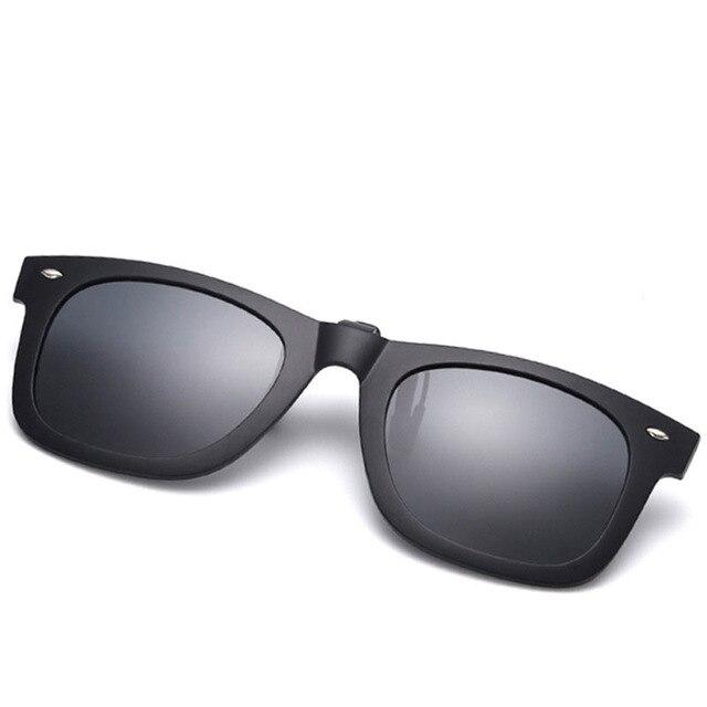 UV400 Polarized Lens Sunglasses Clip Prescription Glasses Flip Up Mirrored  Clip on sunglasses Men Flip Polarized Myopia Women df4a249b405c