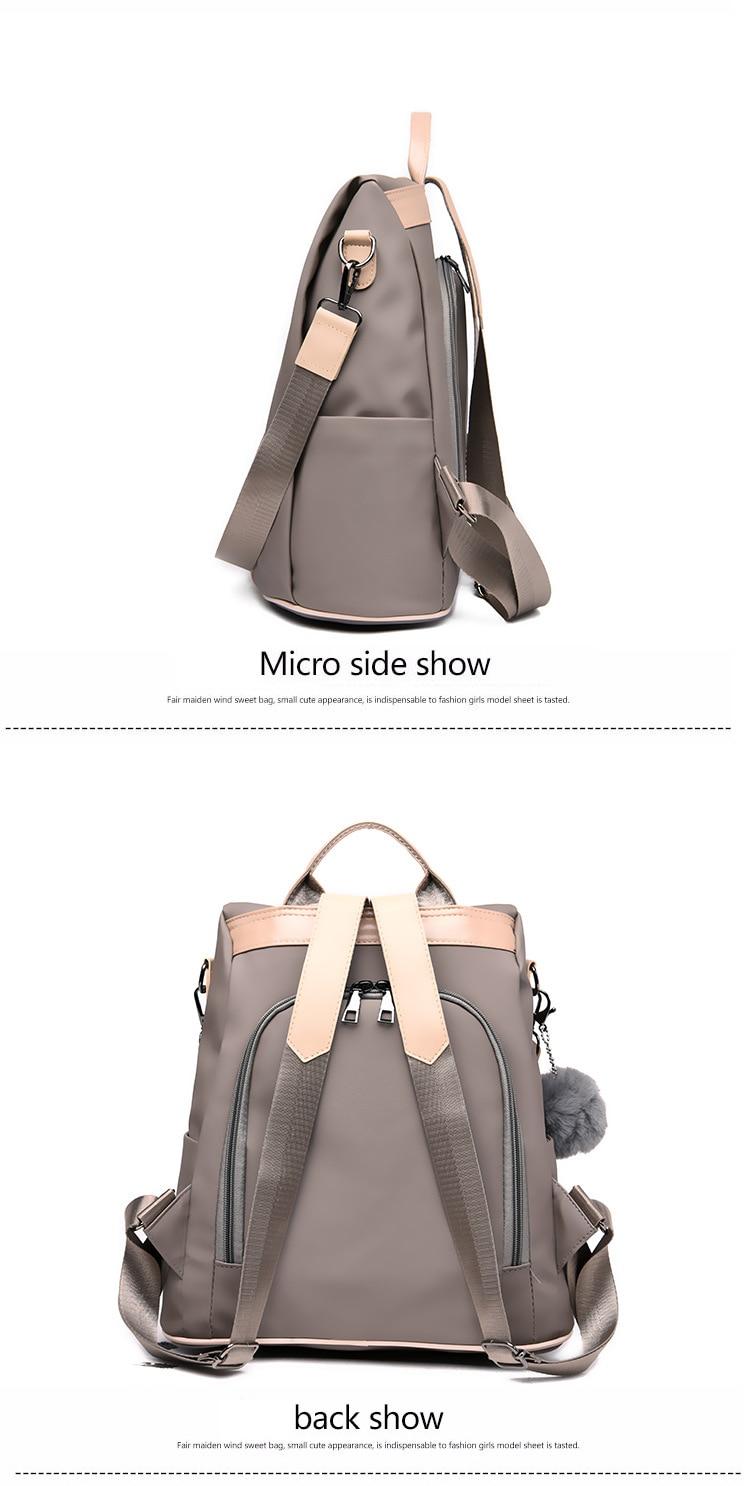 HTB1s9WCXEvrK1RjSspcq6zzSXXaM New Fashion Waterproof Casual Women Backpack Purse Anti-theft Rucksack Mochila Feminina School Shoulder Bag for Teenagers Girls