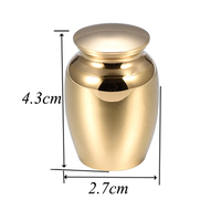 Cremation Urns For Ashes 43 27mm High Grade Stainless Steel Keepsake Funeral Urns Multicolor Engravable 029