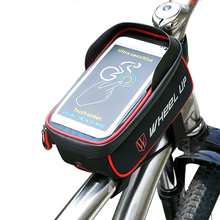 Wheel Up MTB Road Bike Bag Mountain Bicycle Front Top Tube Zipper saddle Bag Touch Screen Phone Case Waterproof Bike Frame Pouch
