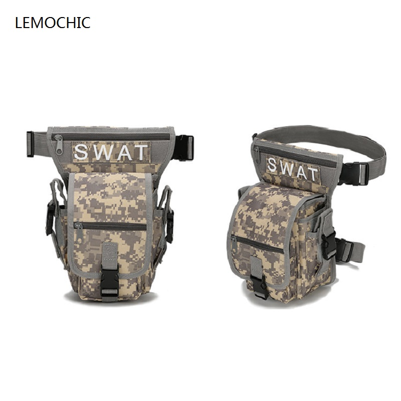 Lemochic Motorcycle Leg Pack Military Waist Belt Bags Women Army Equipment Pouch Tactical Hunting Molle Sport Phone Travel Packs