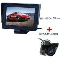 Auto Parking Reverse Camera Monitors 4 3 Inch Car Rear View Mirror Monitor Night Vision Backup