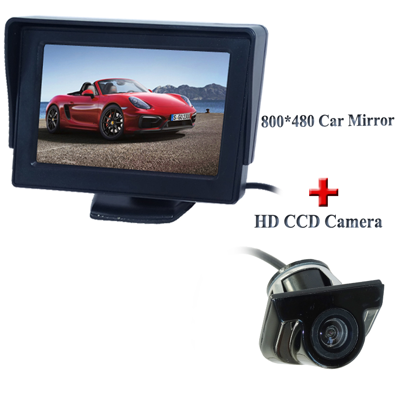 auto parking reverse camera monitors 4 3 inch car rear view mirror monitor night vision. Black Bedroom Furniture Sets. Home Design Ideas