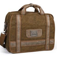 Men Bags Briefcase Handbag Canvas Messenger Shoulder Retro Vintage Ruil Package Travel