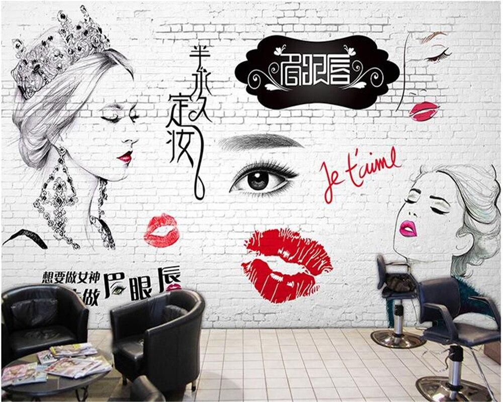 Beibehang Custom 3d Wallpaper Personalized Tattoo Korean Ding Zhuang Wallpaper Makeup Beauty Nail Retro Brick Board 3d Wallpaper Wallpapers Aliexpress