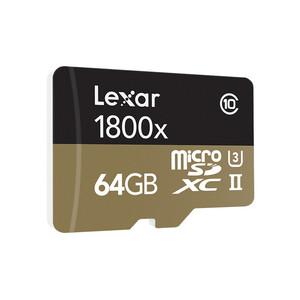 Image 4 - Lexar memoria tarjeta 마이크로 sd 카드 270 메가바이트/초 1800x64 gb microsd tf 플래시 메모리 카드 UHS II sdxc u3 드론 스포츠 캠코더 용