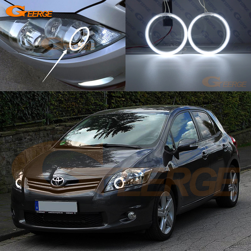 For TOYOTA Auris Facelift 2010 2011 2012 Excellent CCFL Angel Eyes Ultra bright headlight illumination angel eyes kit Halo Ring for mazda rx 8 r3 2009 2010 2011 2012 excellent angel eyes ultrabright illumination ccfl angel eyes halo ring kit