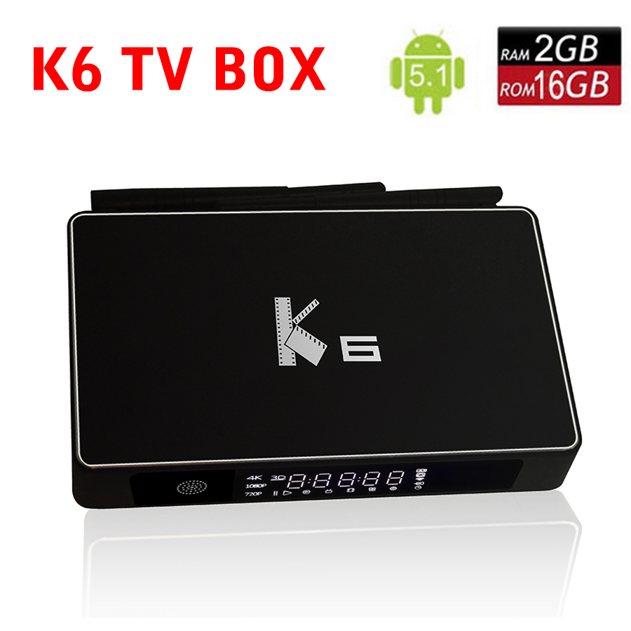 New K6 TV Box Amlogic S812 Android 5.1.1 smart tv box Quad-core 2.4GH/5GHz wifi 2GB 8GB Smart Media Player set top box  IPTV BOX 2017 android 6 0 top box m92s note wifi media player amlogic s912 quad core cortex a53 smart android tv box caja de tv androide