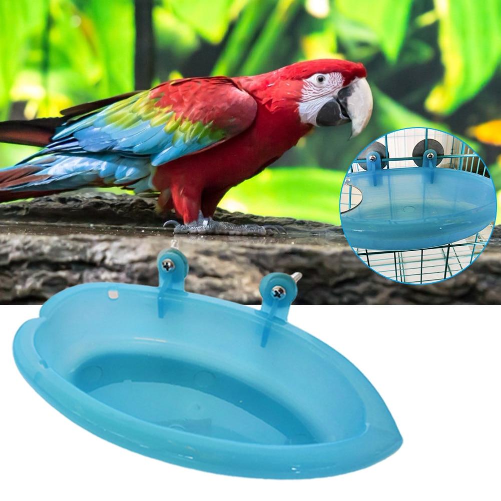 2019 Pet Birds Cage Bath Basin  Shape For Pet Small Bird Parrot Pet Bathtub
