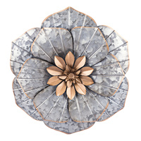 Creative Metal Flower Wall Art Decor for Indoor Outdoor Home Bedroom Living Room Office Garden Decoration S