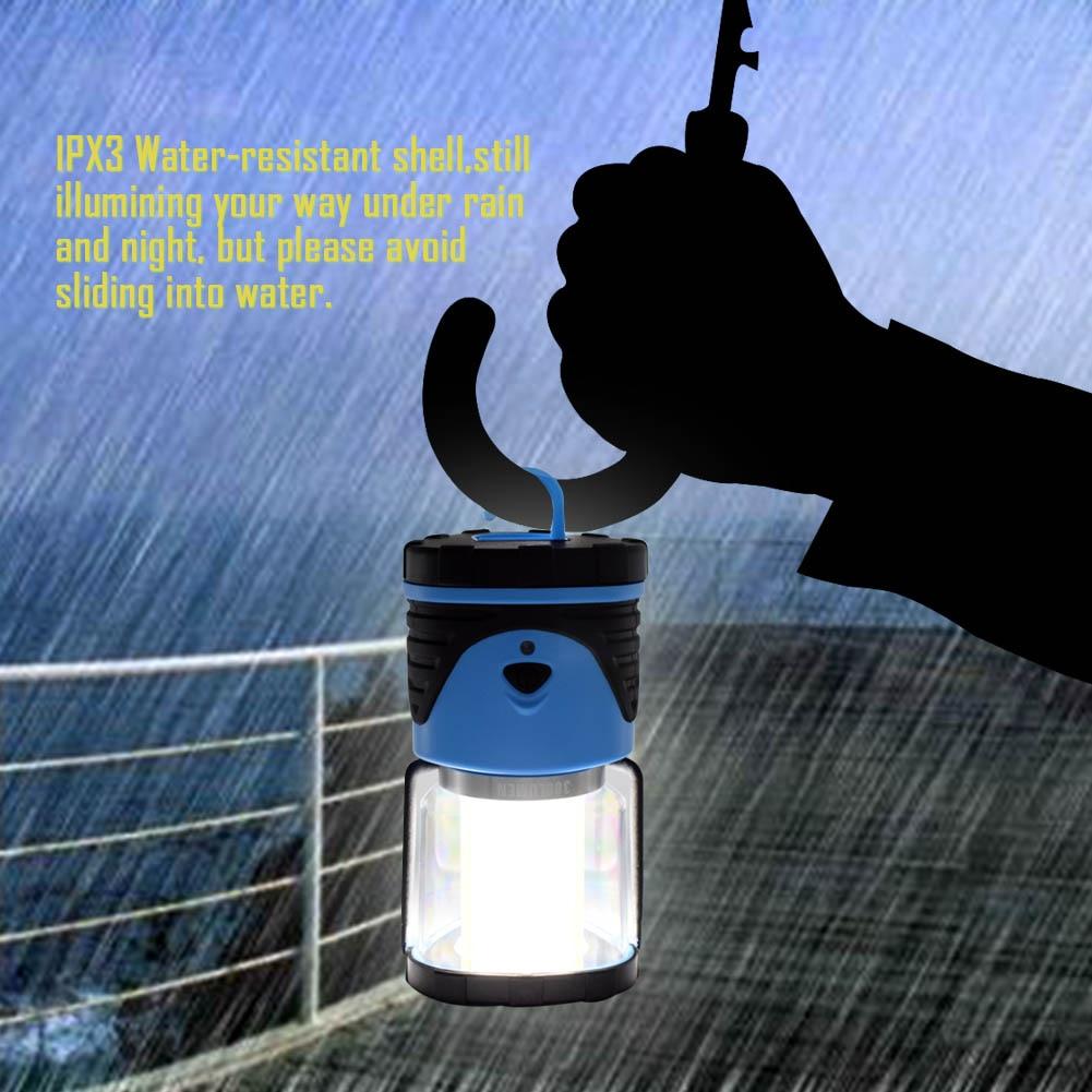TSLEEN Outdoor Camping Lights 12 LED Flashlight Portable Lantern Tent Light Emergency Torch Light Hiking Fishing Hanging Lamp
