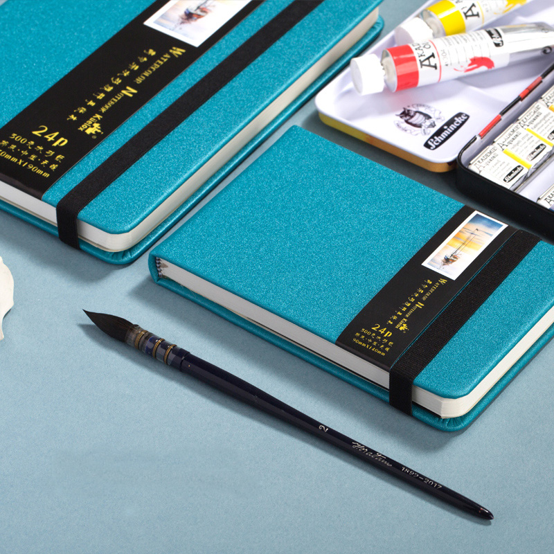 Kuelox Watercolor Student Travel Paper 24 Sketch Portable Portable Account Book Portable Art Supplies