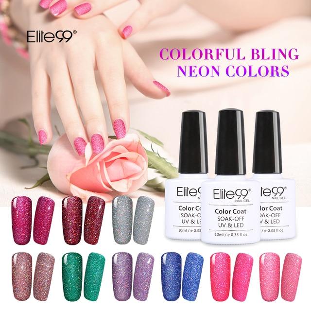 Elite99 All 12pcs Soak Off Bling Neon Color Gel UV LED Gorgeous ...