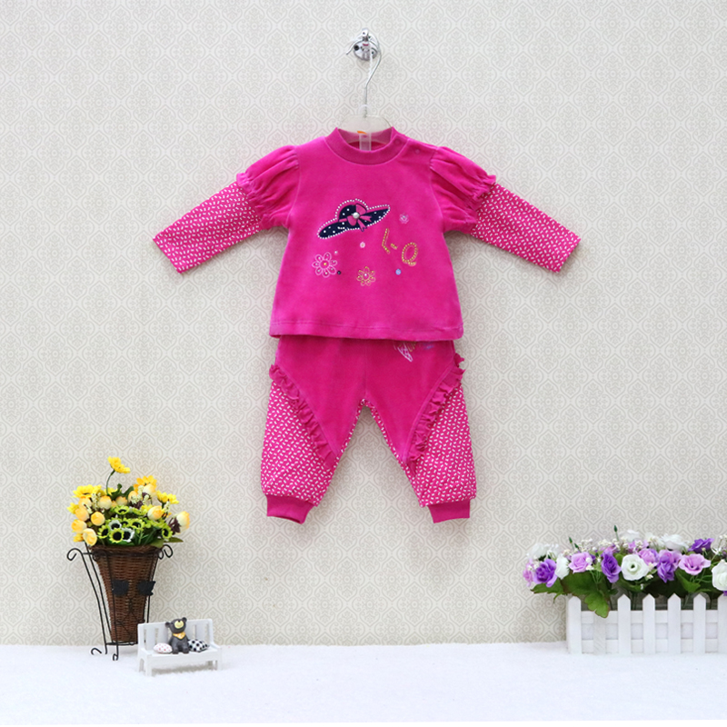 e81f749b5 Detail Feedback Questions about 2019 spring fashion children girls sports clothing  set velour baby toddler apparel outfits blouse+pants 2 pcs clothes sets ...