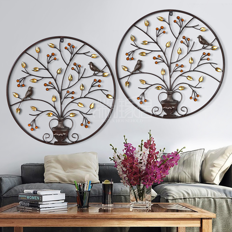 Wall Decor Quality Room Makeovers With Metallic: High Quality Iron Wall Decorated With Chinese Wall Hanging