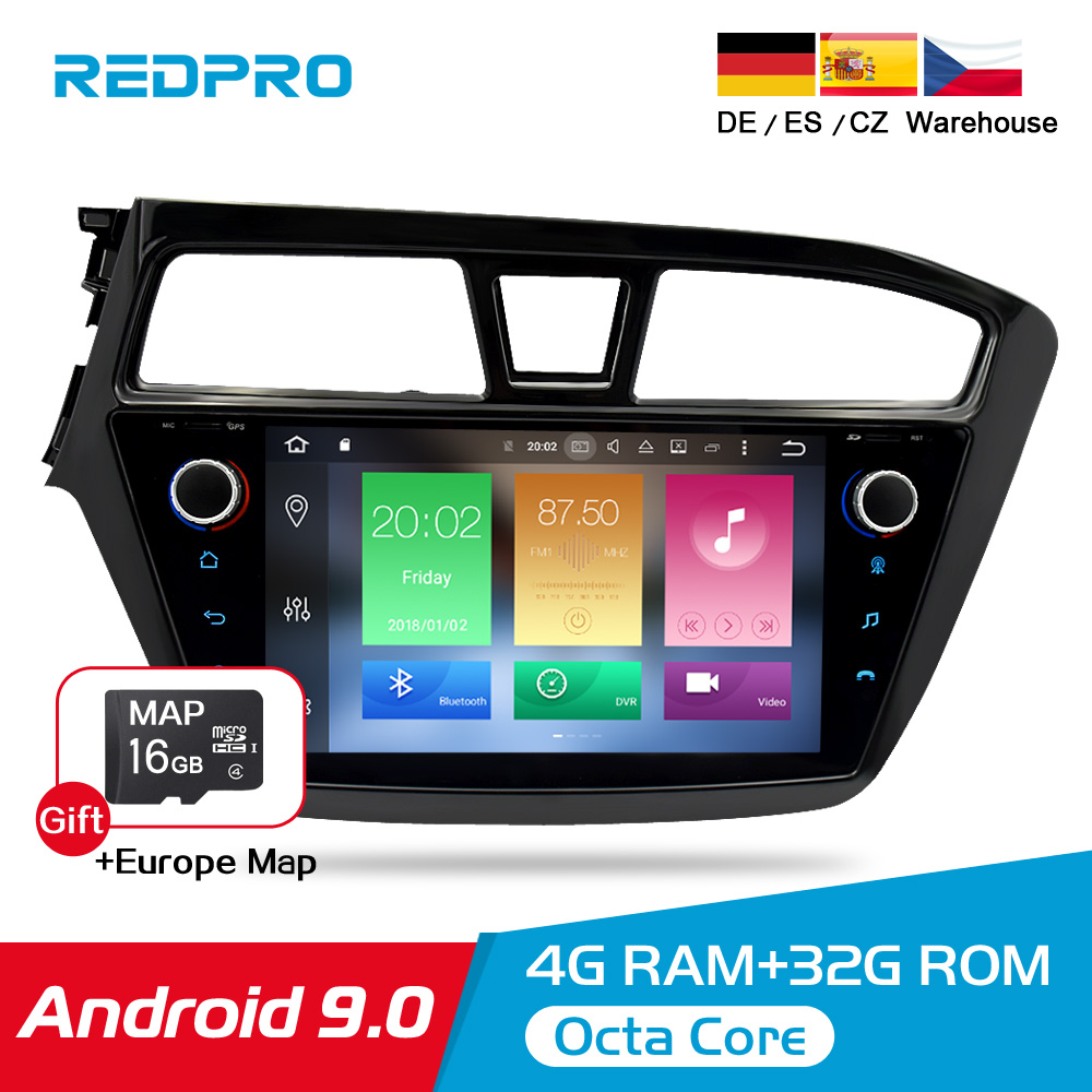 IPS 4G RAM Android 9 0 Car Stereo Radio Player For Hyundai I20 2014 2017 GPS