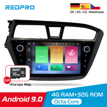 IPS 4G RAM Android 9.0 Car Stereo Radio Player For Hyundai I20 2014-2017 GPS Navigation Auto WIFI FM Audio Bluetooth Multimedia