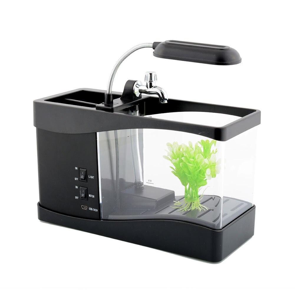 usb mini lcd display clock timer fish tank aquarium for desk office decor gift aquarium accessories office desk aquarium